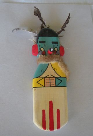 Old 1960 Hopi Flat Morning Kachina Signed,  11 Inches Signed J.  Walker Iii photo