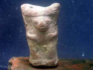 Pre Columbian Peru Moche Ceramic Idol,  Ca 700 Ad photo