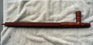 Early 1900 ' S Sioux Indian Red Catlinite Pipe Stem And Bowl - Early Set photo