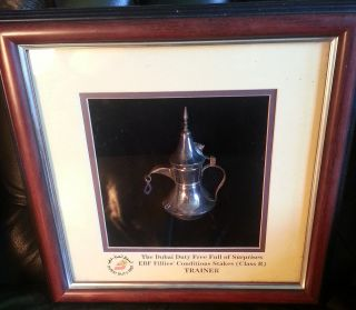 A Solid Silver (925) Horse Racing Trophy From Newbury Meeting photo
