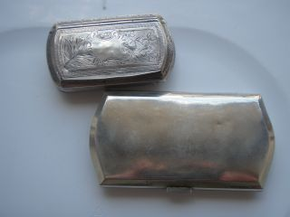Sterling Silver Snuff Box And Cigarette Or Card Case photo