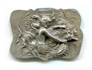Sterling Silver Unger Brothers Luggage Tag – Art Nouveau/victorian photo