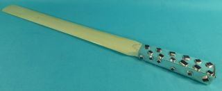 Magnificent Art Deco Sterling Silver Page Turner Gemstones 18++ Inch Long C1940 photo