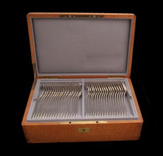Lappara French Antique Sterling Silver Flatware Set,  111pcs. ,  Louis Xvi,  Chest photo