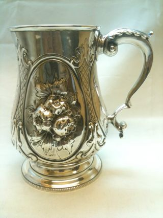 Antique Solid Silver Tankard London 1862 309grams Ref 777 photo
