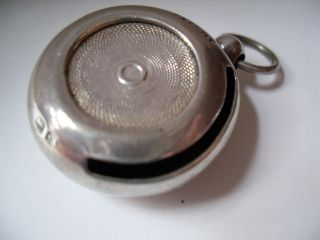 Tactile Antique Sterling Silver Sovereign Case 1902 Well Sprung,  Looped Fob 14g photo