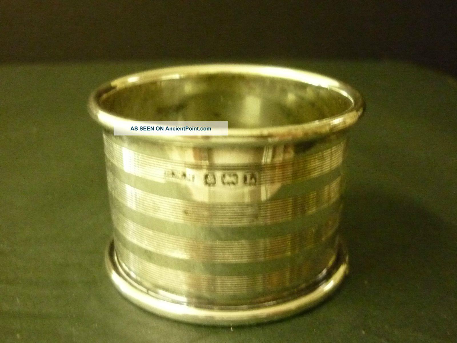 Hallmarked Birmingham Sterling Silver Serviette/napkin Ring Sterling Silver (.925) photo