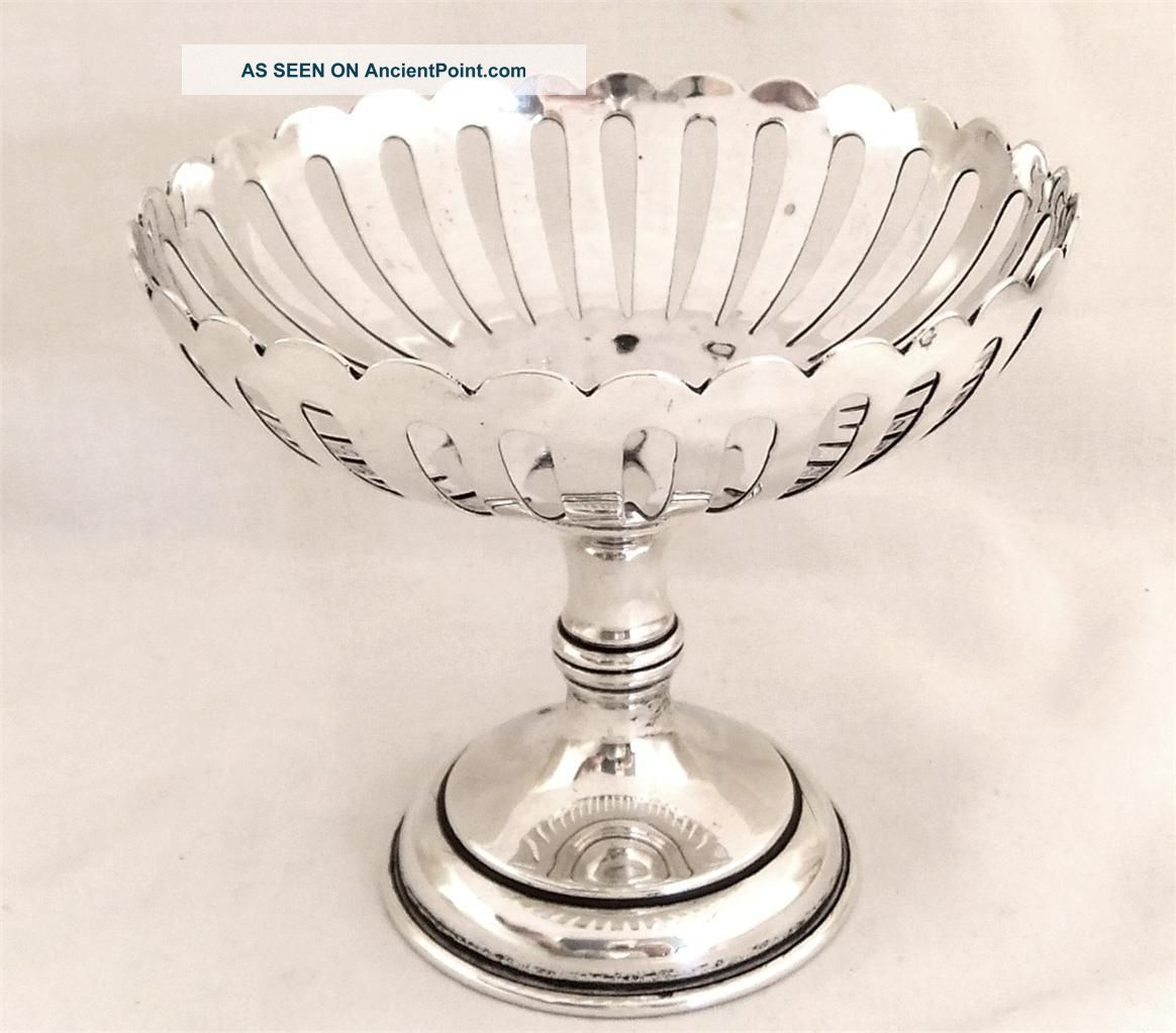 Pretty Antique Hallmarked Sterling Silver Dish - 1913 Other photo