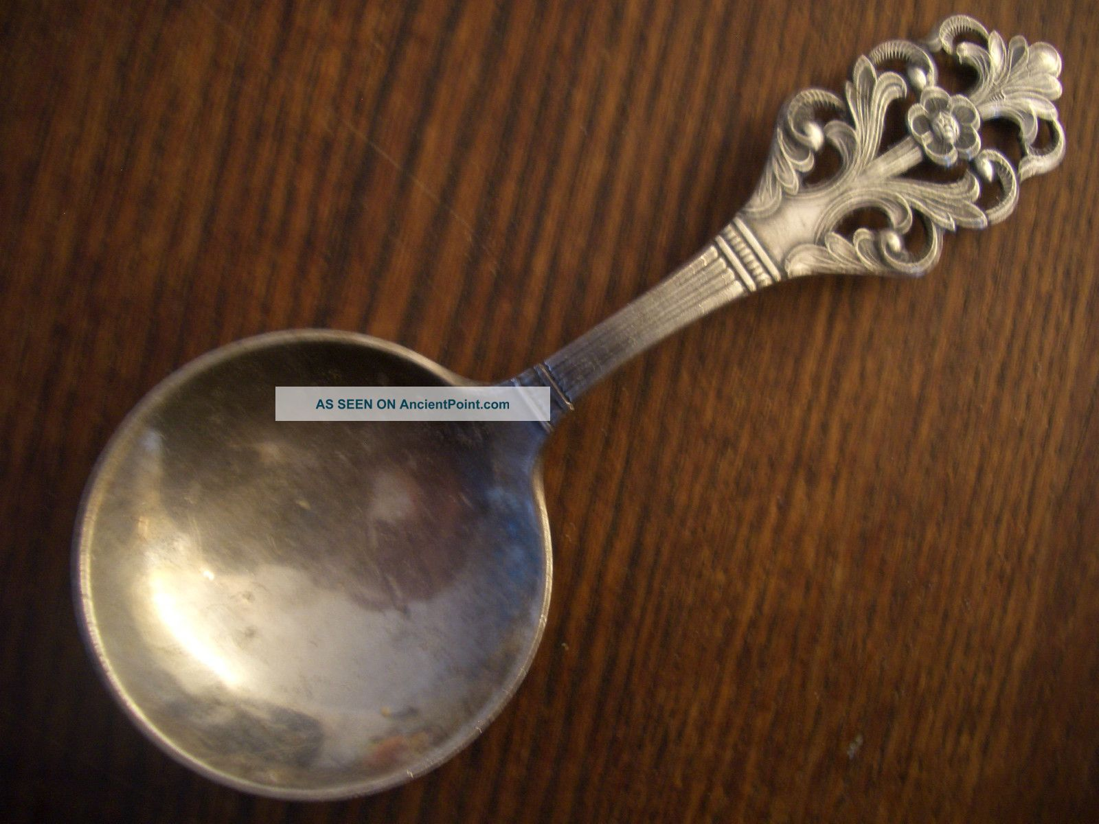 Silver Norge 230 Fret Cut Top Tea Caddie Spoon Other photo