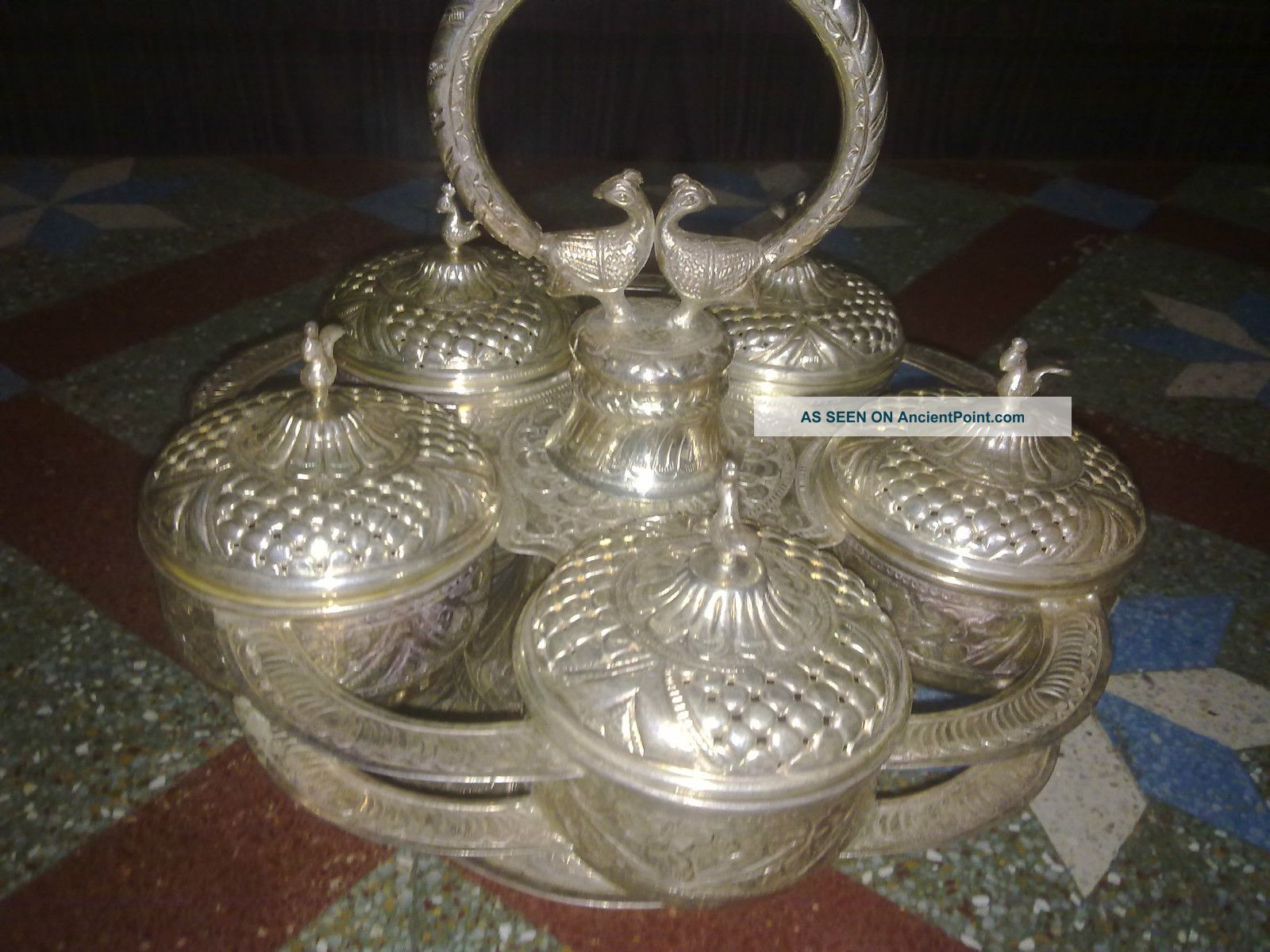 Silver Antiques Totaly Made Of Fine Silver Having 30 Year Period By Hand Other photo
