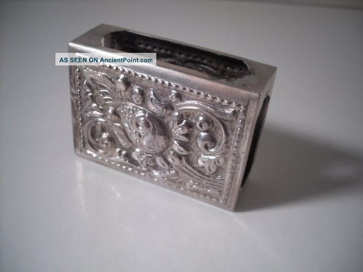 A Silver Matchbox Holder With Embossed Rocaille Decoration : C1910 Other photo