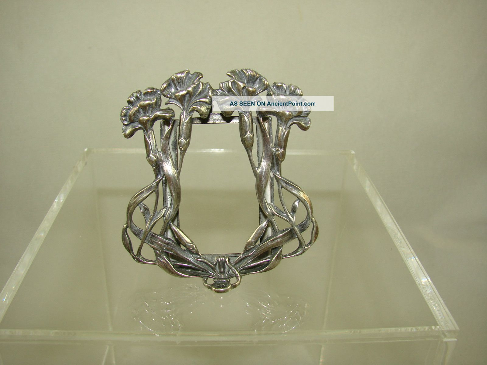 Charming Sterling Silver Art Nouveau Picture Frame Other photo