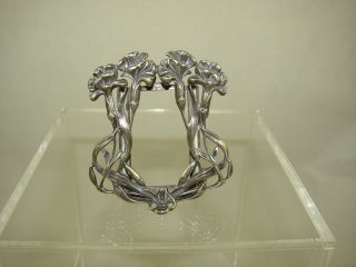 Charming Sterling Silver Art Nouveau Picture Frame photo
