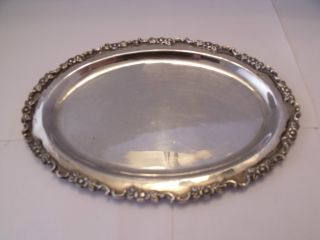 Solid Silver Tray Free Worldwide Shipping/postage photo