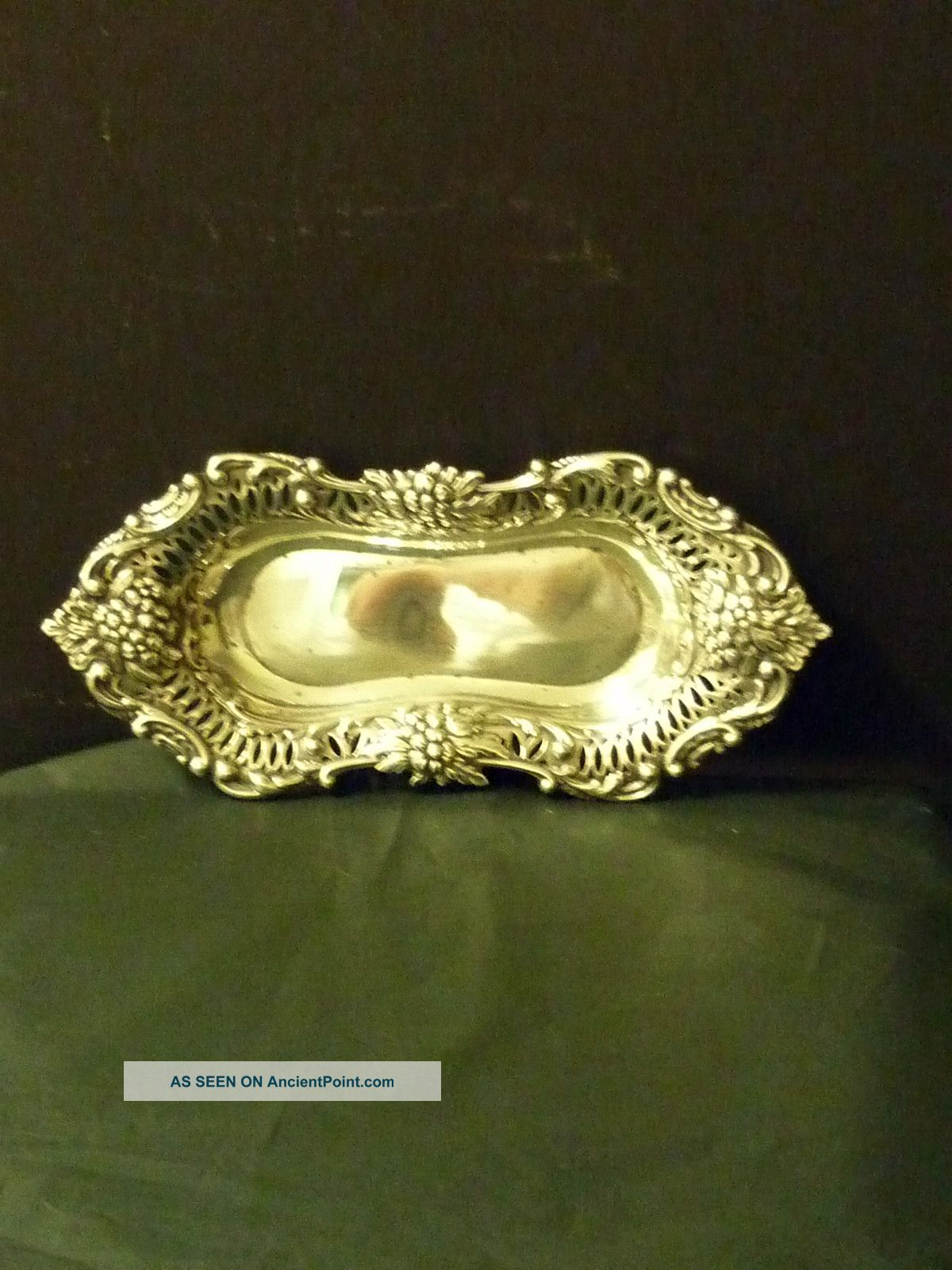 Attractive Sterling Silver Tray Hall Marked Birmingham Silverplate photo