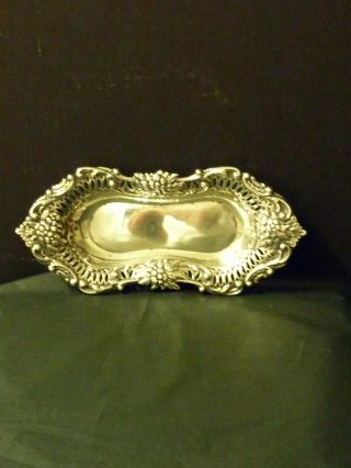 Attractive Sterling Silver Tray Hall Marked Birmingham photo