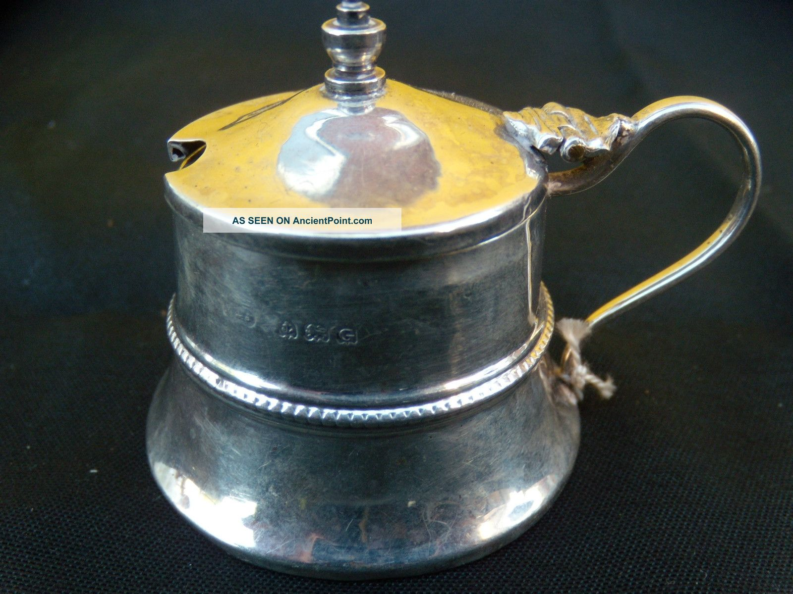 Solid Silver English Hallmarked Mustard Pot 1931 To 1932 Other photo