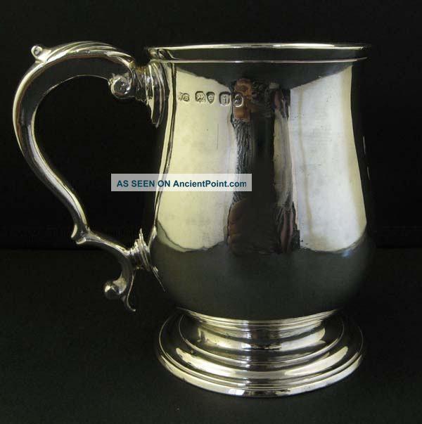 Antique George Iv Solid Silver Mug Tankard William Bateman Other photo