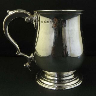 Antique George Iv Solid Silver Mug Tankard William Bateman photo