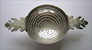 Huguenot: A William Iii Silver Orange Strainer,  London,  1698 photo