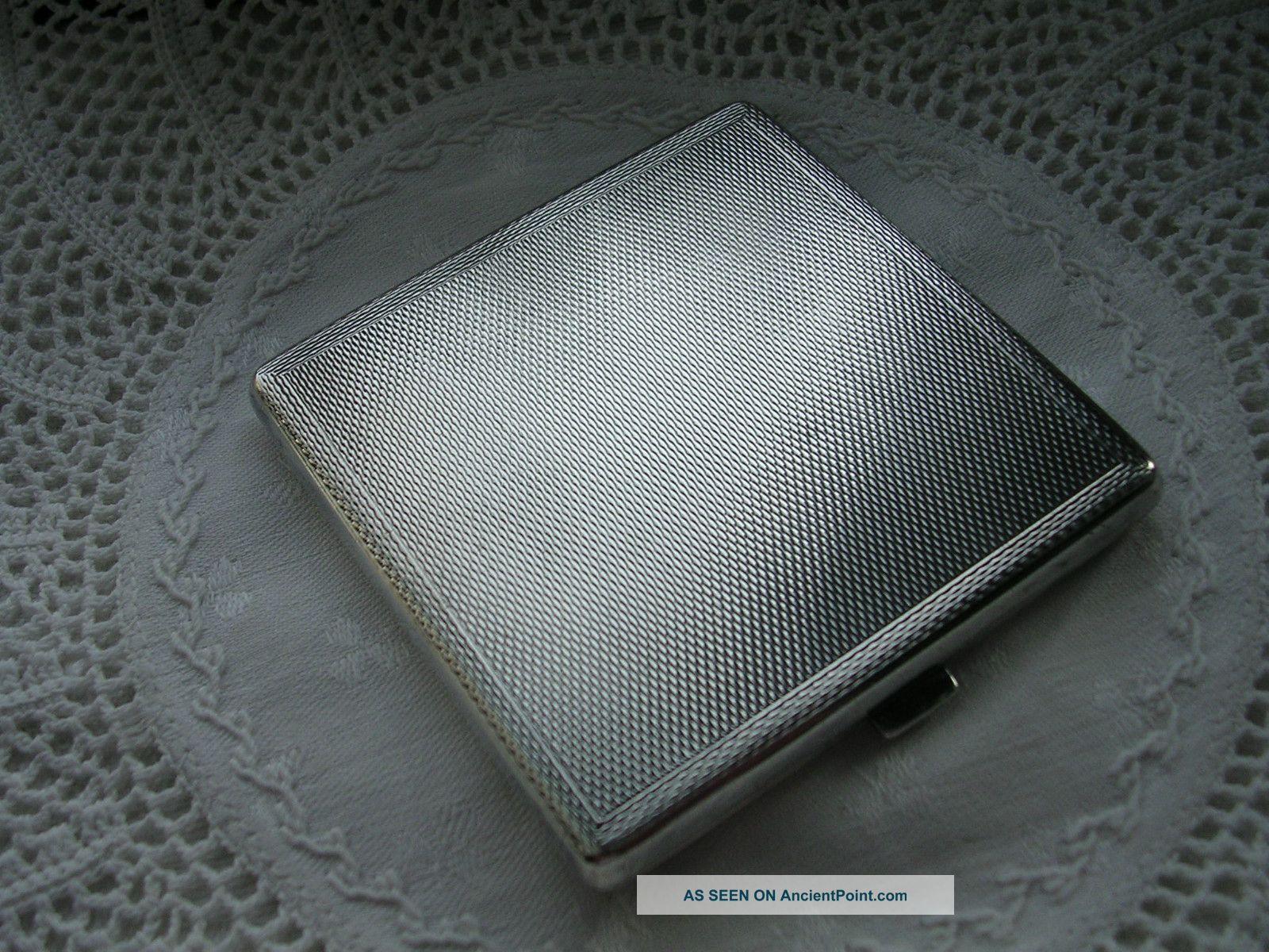 Vintage Solid Silver Ladies Compact Birmingham 1950 - Crack To Mirror Other photo