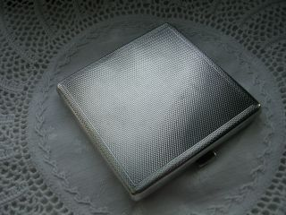 Vintage Solid Silver Ladies Compact Birmingham 1950 - Crack To Mirror photo