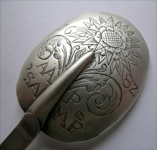An Early German/hungarian Silver Trefid Spoon,  Dated ' 1682 ' Engraving photo