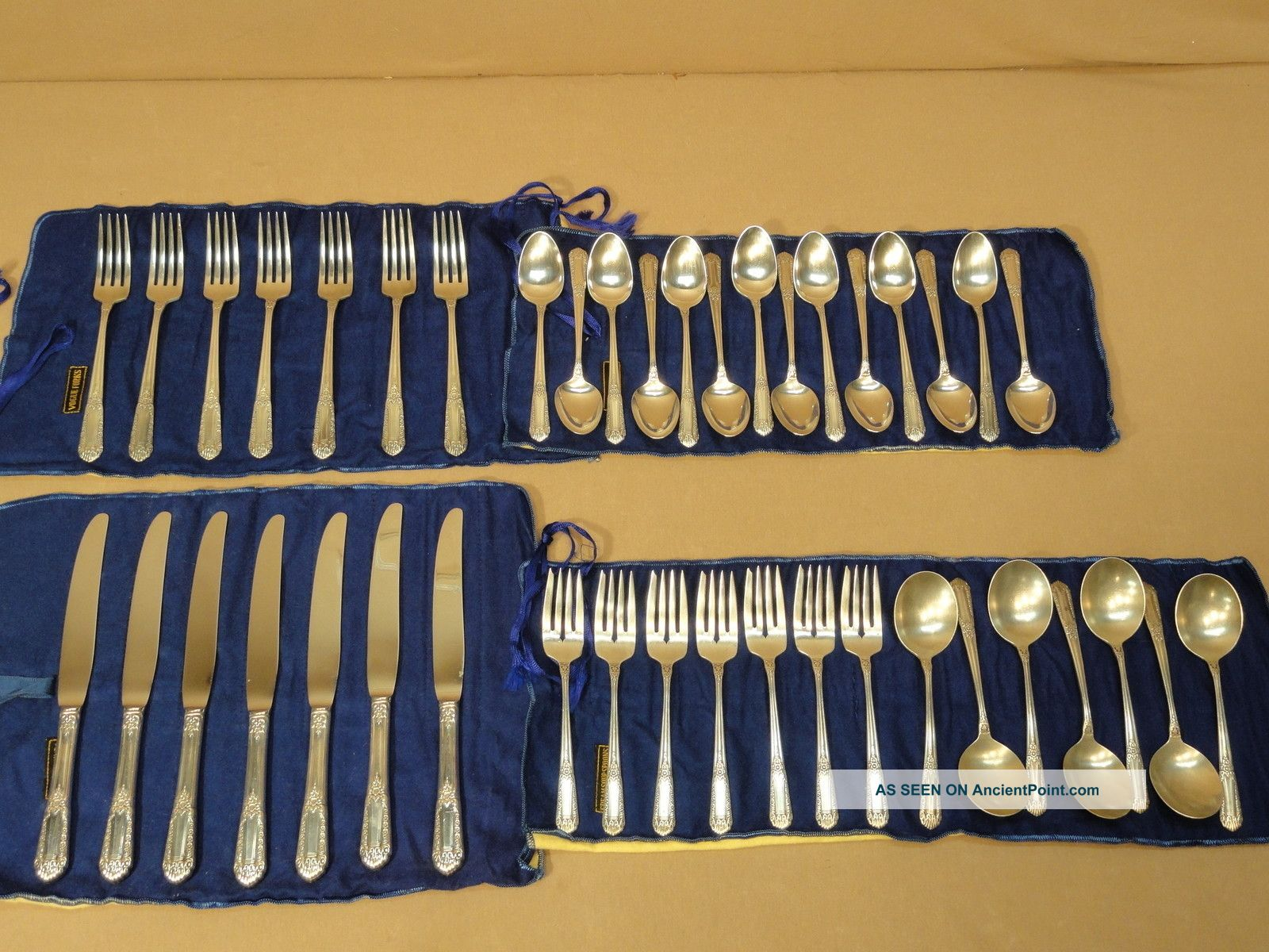 42 Piece State House Inaugural Sterling Silver Flatware Set For 7 Silverware Vtg Other photo