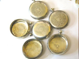 219.  5 Grams Of Mixed Scrap Silver,  Broken Watch Cases Etc.  Hallmarked. photo