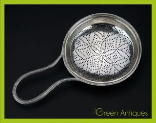 Antique 18thc Georgian Solid Silver Hester Bateman Lemon Strainer C.  1787 photo