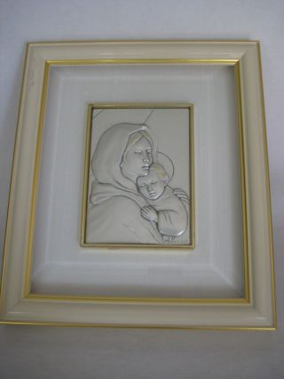 Rare Sterling Silver Art W/frame By Alliani,  Marchio D ' Impresa photo