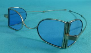 Rare Pair Georgian Sterling Silver Invalid Spectacles Eye Glasses London 1834 photo
