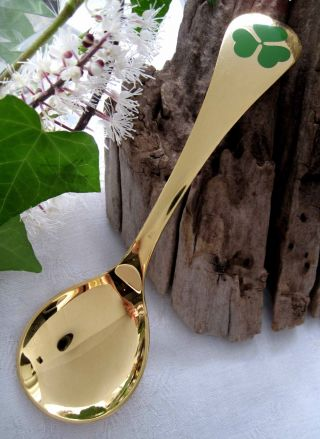 Georg Jensen,  Silver,  Gold & Enamel Year,  Annual Spoon,  1979,  Denmark,  46 G photo