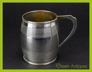 Antique 19thc Georgian Solid Silver Cup,  William Bennett,  London C.  1811 photo