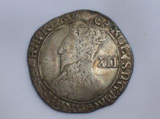 Fine Sterling Silver Shilling/coin King Charles I 1636/8 London photo