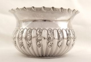 Antique Hallmarked Sterling Silver Bowl - Goldsmiths & Silversmiths 1898 photo