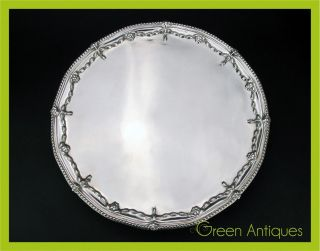 Antique 18thc Georgian Solid Silver Salver Tray,  Robert Jones I,  London C.  1773 photo