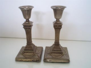 Wow Antique Pair Of 19thc Silver Candlesticks Hallmarked Charles Stuart Harris photo