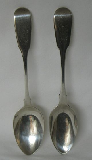 James Godfrey Melick New Brunswick Canada Set Of 2 Sterling Silver Teaspoon photo
