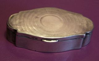 Solid Silver Victorian Snuff Box Birmingham 1912 photo