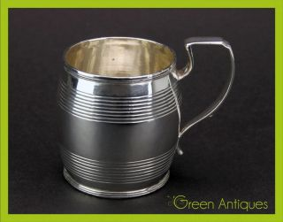 Antique 19thc Georgian Solid Silver Cup,  Abstinando King,  London C.  1810 photo