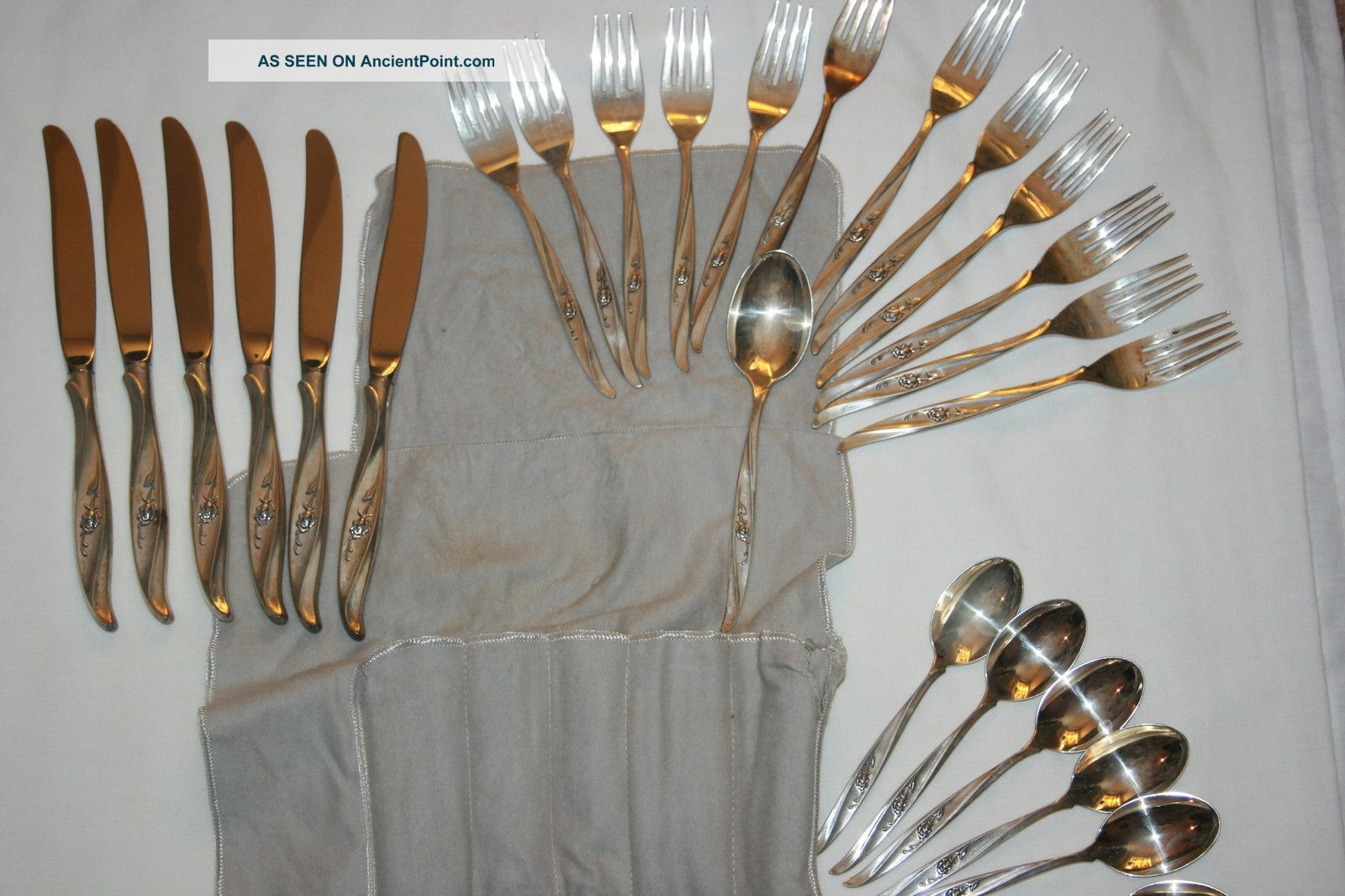 International Sterling, Sterling Silver Flatware Rose Ballet 1962