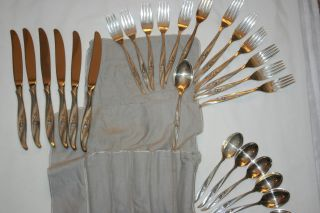 International Sterling,  Sterling Silver Flatware Rose Ballet 1962 Gorgeous 26 P photo
