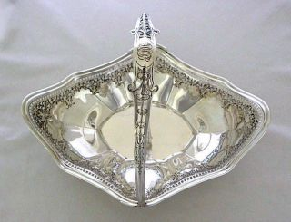 Big Sterling Silver Basket 11 3/4
