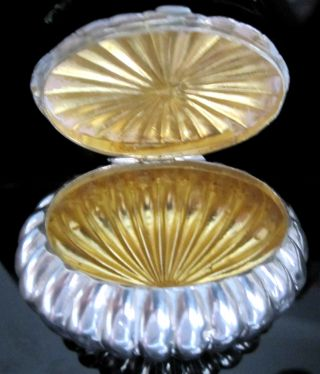 Sterling Silver And Gilt - Lined Cushion Pill - Trinket Box By Charles Harrold & Co. photo
