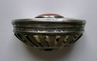 A Queen Anne Silver,  Shell And Carnelain Snuff Box,  C.  1700 photo
