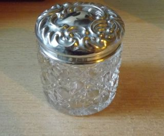 Antique Silver & Cut Glass Vanity Jar - 1900 Adie Lovekin Ltd photo