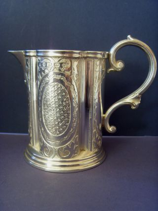 19thc Victorian [gothic Revival] Silver Milk Jug, . .  [maker]