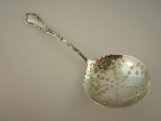 Antique Vintage Sterling Silver Hallmarked Tea Strainer With Stars photo