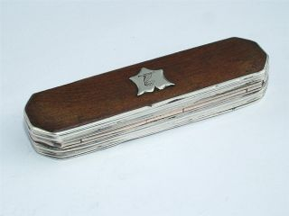 18th Century Scottish Silver Mounted & Crested Tooth Pick Box photo